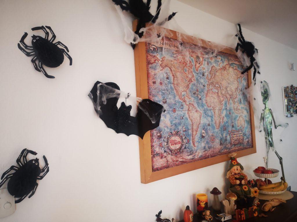halloween deko spinnen