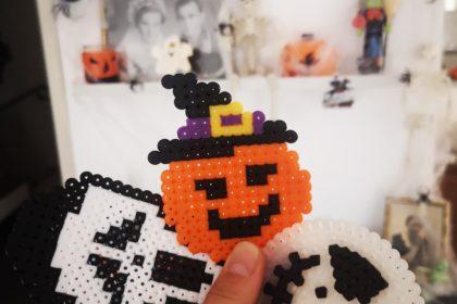 halloween untersetzer aus bügelperlen gestalten