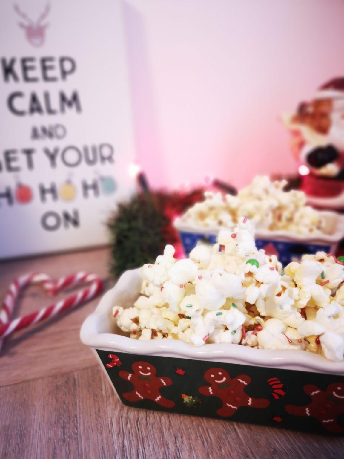 christmas popcorn einfach selber machen