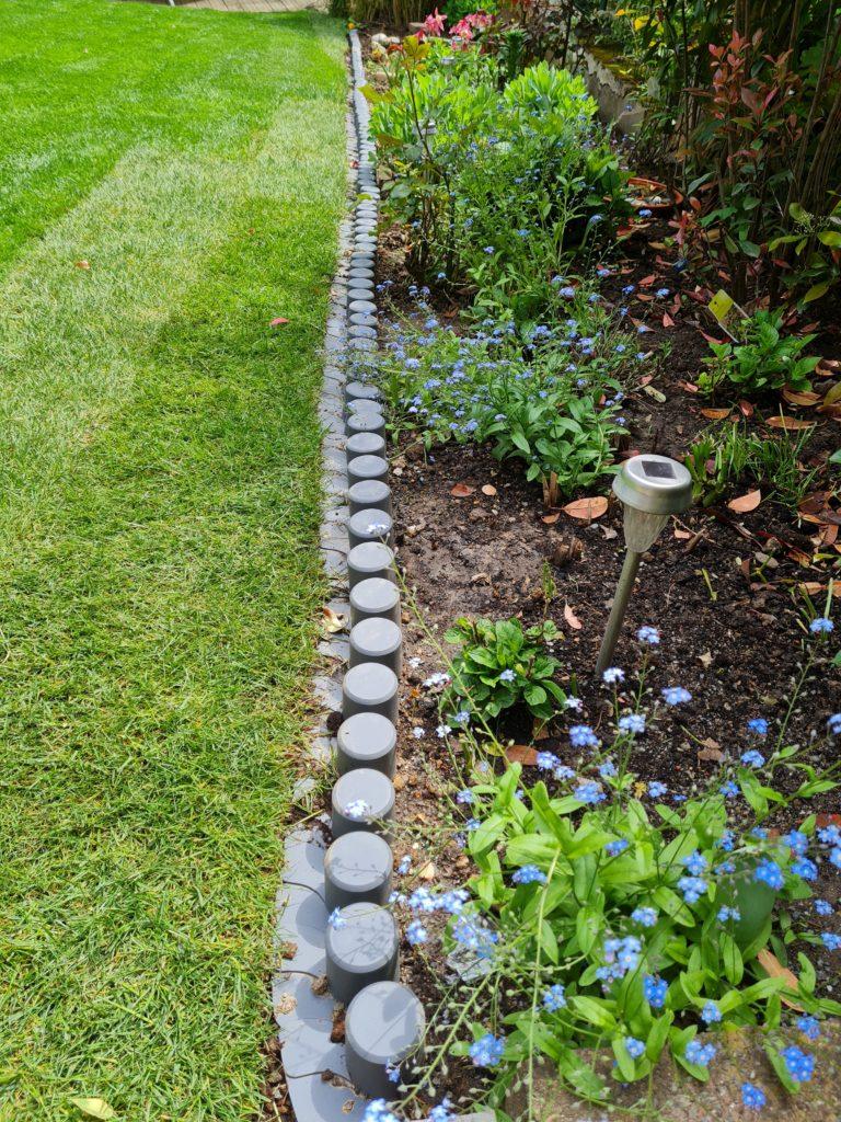 Rasenkanten aus Kunststoff